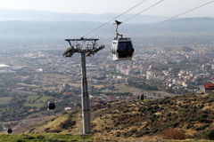 Cable car in Bergama Stock Photos