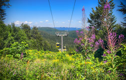 Cable car in Black Forest region, Belchen mountains Royalty Free Stock Photography