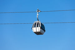 Cable car on blue sky background Royalty Free Stock Photography