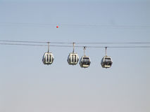 Cable car blue sky Royalty Free Stock Photo