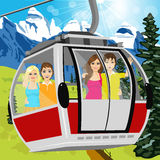Cable car or booth carrying passengers Royalty Free Stock Photo