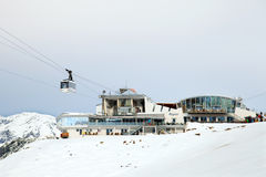 The cable car cabin of Harmelekopfbahn in Seefeld Royalty Free Stock Image