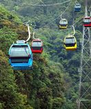 Cable Car Cabins on a Mountain Stock Image