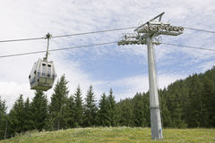 Cable car on a cableway in the Alps Stock Photos