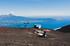 Cable Car Calbuco Volcano Chile Royalty Free Stock Images