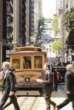 Cable car on California Street Stock Images