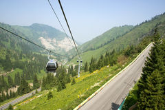Cable car and car-way Royalty Free Stock Images