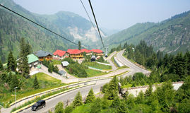Cable car and car-way Royalty Free Stock Photography