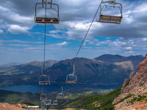 Cable car. From Cerro Catedral - Bariloche - Patagonia - Argentina Royalty Free Stock Photo