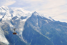 Cable car in Chamonix Mont Blanc, France Royalty Free Stock Photo
