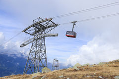 Cable Car from Chamonix to the summit of the Aiguille du Midi Royalty Free Stock Image