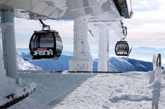 Cable car from Chopok mount. Royalty Free Stock Photo