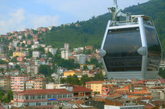 Cable car in the city of Ordu Stock Photo