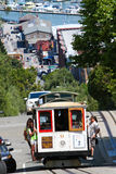 Cable Car #9 Climbing the Streets of San Francisco Stock Photos