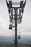 Cable car with clouds Stock Photo