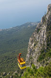 Cable car in Crimea Stock Image