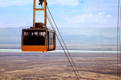 Cable car at Dead sea Stock Image