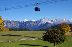 Cable car dolomites Stock Images