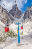Cable car in the Dolomites Stock Image