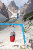 Cable car in the Dolomites Stock Photography