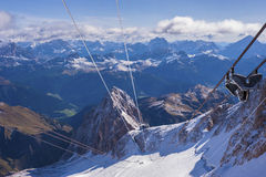 Cable Car in the Dolomites Stock Photos