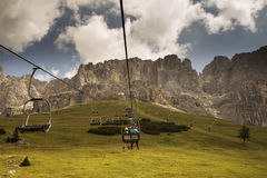 Cable car in the Dolomites - Italy Royalty Free Stock Image