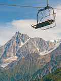 Cable car elevator in French Alps, Chamonix Royalty Free Stock Image