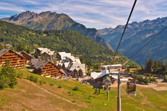 Cable Car in European Alps Royalty Free Stock Photos