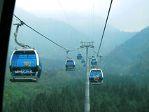 Cable car at Formosa  Aboriginal Culture Village theme park Royalty Free Stock Photo