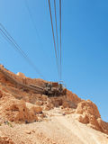 Cable car in fortress Masada, Royalty Free Stock Photos