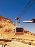 Cable car in fortress Masada, Israel Stock Photos