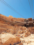 Cable car in fortress Masada, Israel Royalty Free Stock Image