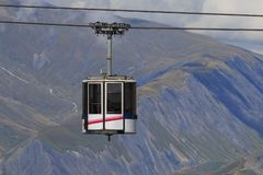 Cable car in France alps royalty free stock photography