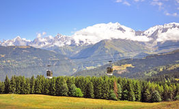 Cable car in french Alps Stock Photos