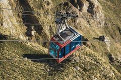 Cable Car in Fuente de, Picos de Europa mountains, Cantabria, Spain. Fuente De, Spain - February 17, 2017 : Cable Car in Fuente de, Picos de Europa mountains stock images
