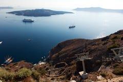 Cable Car, Funicular, Santorini Island Stock Images