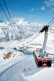 Cable car from Gant to Hohtaelli, Zermatt, Switzerland Royalty Free Stock Photos