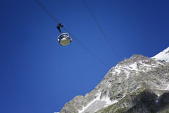 Cable car gear . Courmayeur Valley Royalty Free Stock Photo