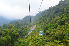 Cable car. Genting Highland cable car, Malaysia Royalty Free Stock Photo