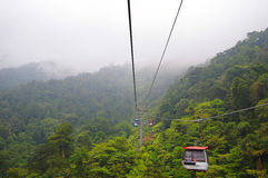 Cable car. Genting Highland cable car, Malaysia Royalty Free Stock Image