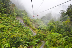 Cable car at Genting skyway. See highlands on cable car about distance 3.5 km of Genting skyway in Malaysia Royalty Free Stock Image