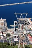 Cable car, Gibraltar. Royalty Free Stock Image