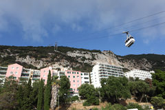Cable car in Gibraltar Royalty Free Stock Photography