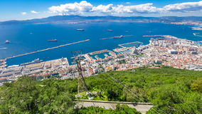 Cable car of Gibraltar stock video