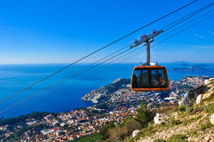 Cable Car. Going down Stock Image