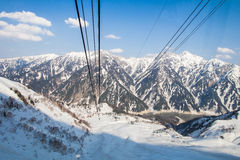 Cable car going to Tateyama Kurobe Alpine Route Stock Image