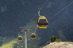 Cable car gondola in Alps mountains near Livigno lake Italy Royalty Free Stock Image
