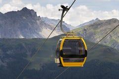 Cable car gondola in Alps mountains near Livigno lake Italy Royalty Free Stock Photography