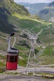 Cable car gondola to Balea Lake. A popular way to reach Balea Lake in Romania is via cable car gondola royalty free stock photos
