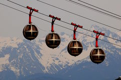 Cable car in Grenoble Stock Photo